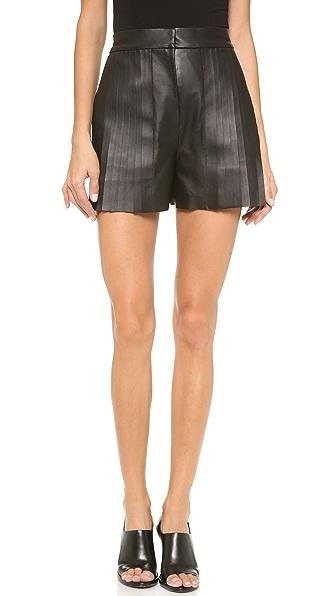 Alexander Wang High Waist Leather Shorts