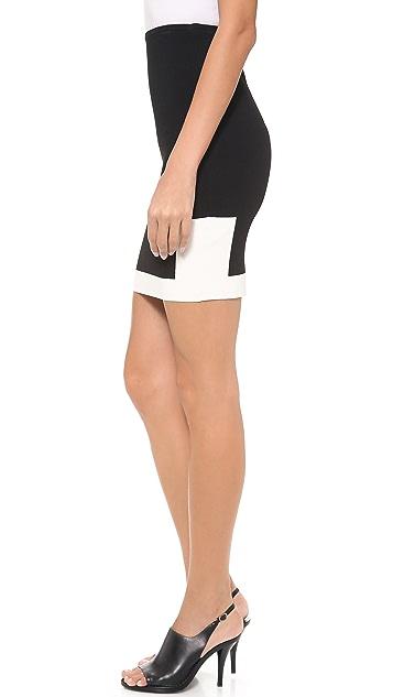 Alexander Wang Graphic Block Pencil Skirt