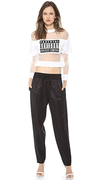 Alexander Wang Parental Advisory Sweatshirt