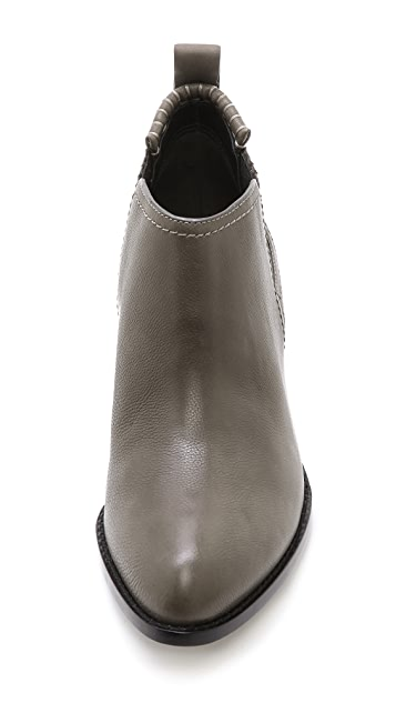 Alexander Wang Kori Ankle Booties with Rhodium Hardware