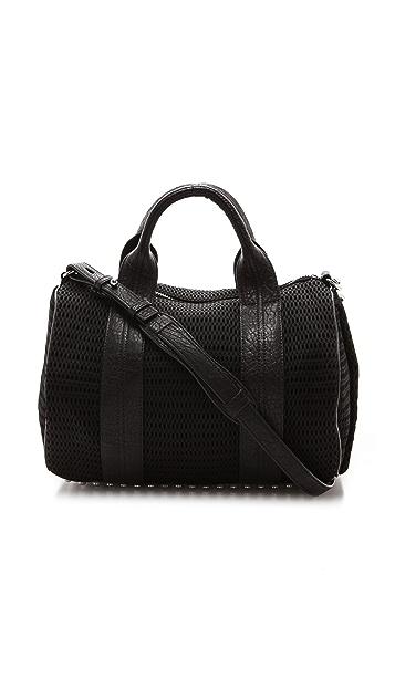 Alexander Wang Rocco Mesh Duffel Bag with Rhodium Hardware