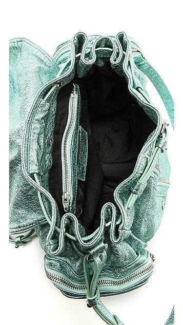 Alexander Wang Marti Foiled Shrunken Backpack