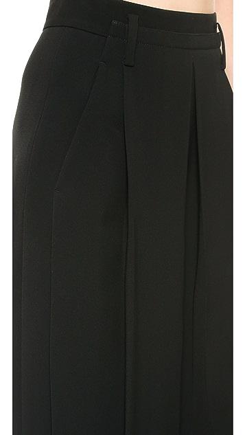 Alexander Wang High Waist Pleated Crepe Pants