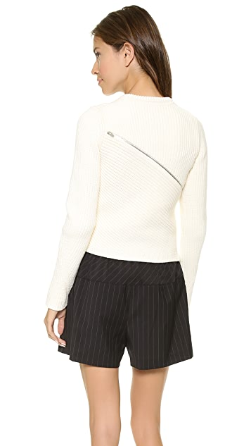 Alexander Wang Zip Peel Away Pullover