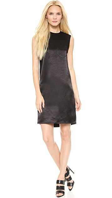 Alexander Wang Crew Neck Distressed Back Dress