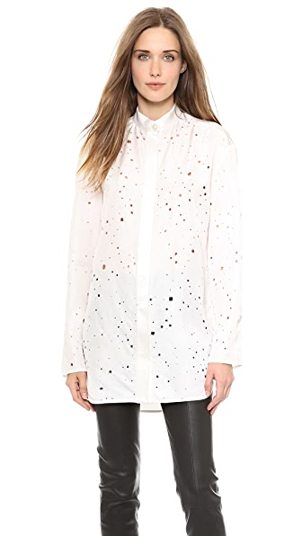 Alexander Wang Distressed Top with Back Keyhole Tie