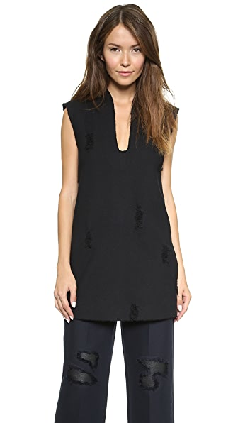 Alexander Wang Distressed Deep V Tunic