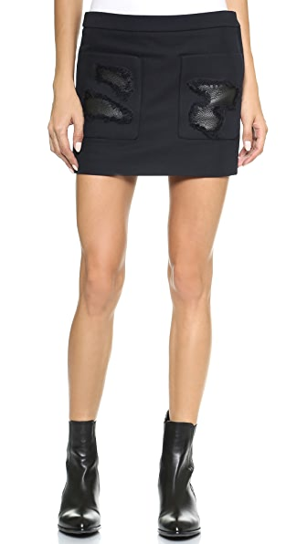 Alexander Wang Cropped Skirt with Distressed Pockets