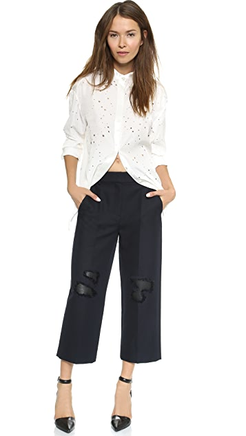 Alexander Wang Cropped Knee Patch Pants