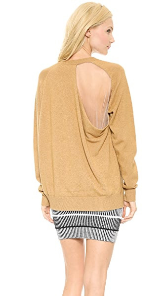 Alexander Wang Peel Away Sheer Back Sweatshirt
