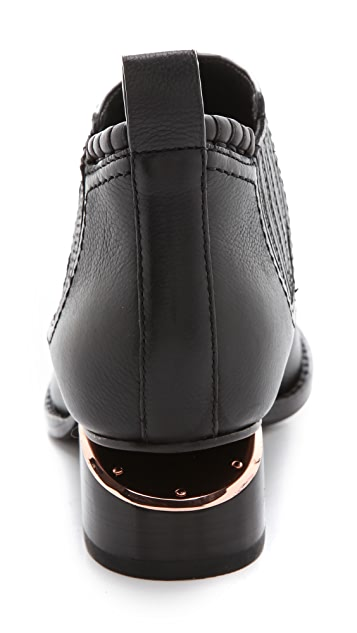 Alexander Wang Kori Ankle Booties with Rose Gold Hardware