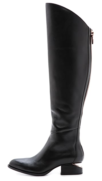 Alexander Wang Sigrid Tall Boots with Rose Gold Hardware