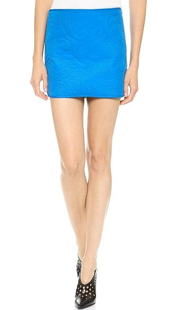 Alexander Wang Paisley Quilted Miniskirt