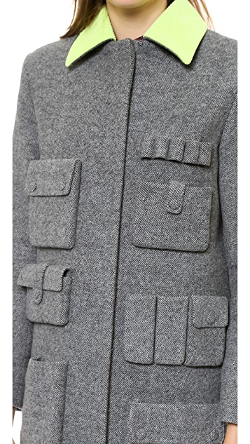 Alexander Wang Single Breasted Car Coat