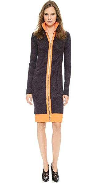 Alexander Wang Fitted Zip Track Dress
