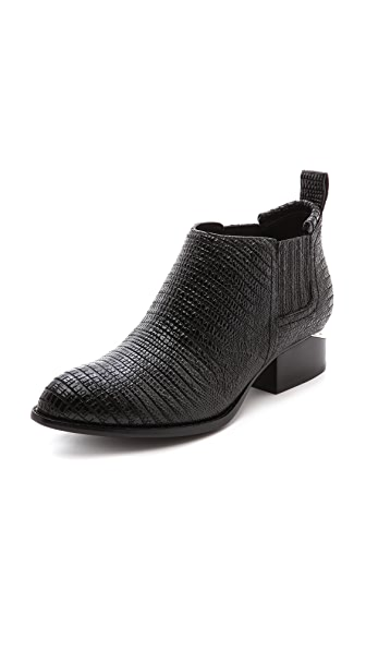 Alexander Wang Kori Lizard Embossed Booties