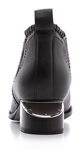 Alexander Wang Kori Ankle Booties with Rhodium Hardware