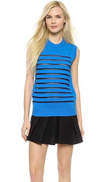 Alexander Wang Striped Peelaway Tank
