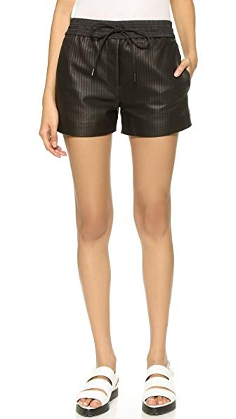 Alexander Wang Laser Cut Leather Shorts