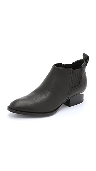 Alexander Wang Kori Ankle Booties - Black/Rose Gold