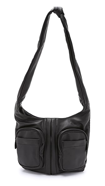 Alexander Wang Donna Hobo with Covered Zips - Black