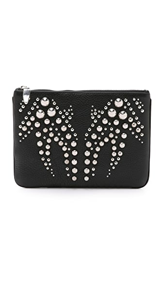 Alexander Wang Studded Runway Flat Clutch - Black