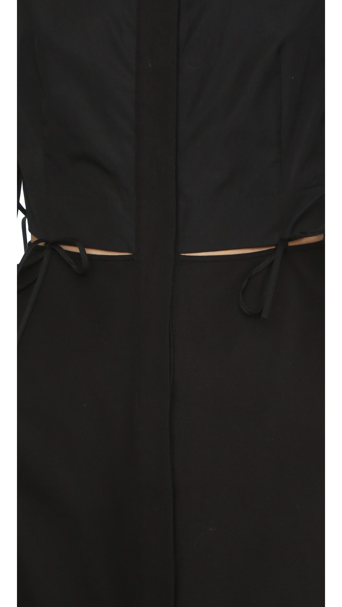 9c39fc00688 Alexander Wang Shirtdress with Binding Tie Detail