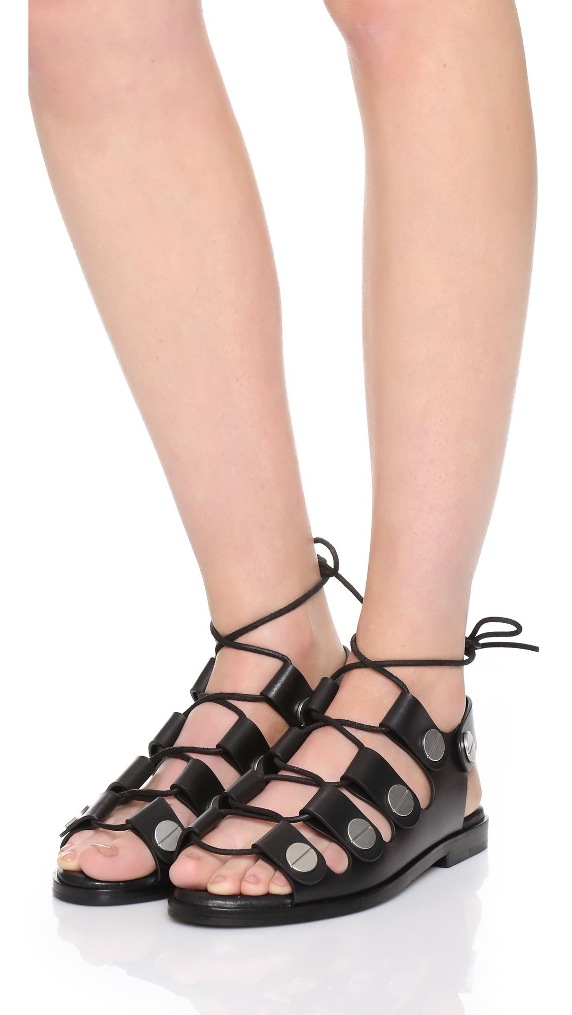 Alexander Wang Leather Gladiator Sandals. pJH6BRQYWZ