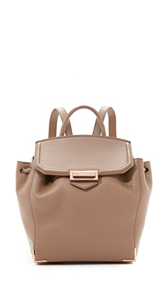 Alexander Wang Mini Prisma Backpack In Latte