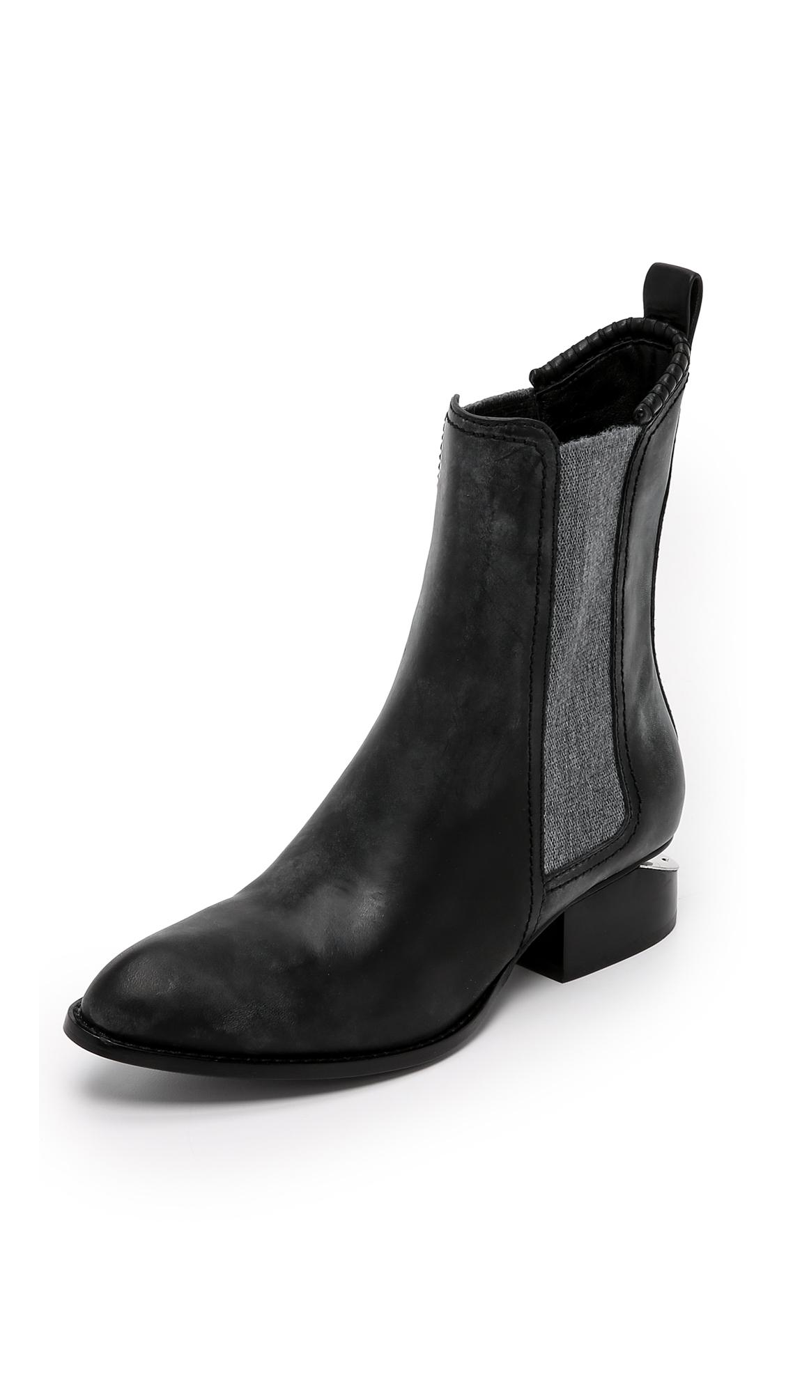 Alexander Wang Anouck Chelsea Boots - Black at Shopbop