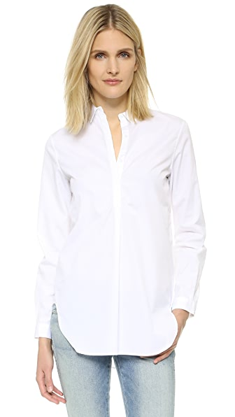 Ayr Easy Half Placket Shirt - White