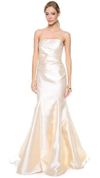Badgley Mischka Collection Strapless Gown | 15% off first app ...