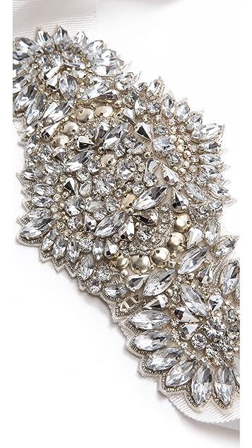 Badgley Mischka Collection Metal & Crystal Belt