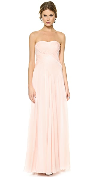 Badgley Mischka Collection Draped Crossover Dress