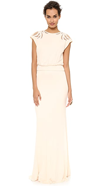 Badgley Mischka Collection Keyhole Gown