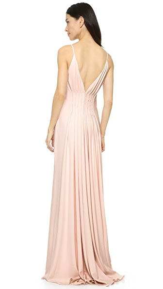 Badgley Mischka Collection Open Back Gown - Light Blush