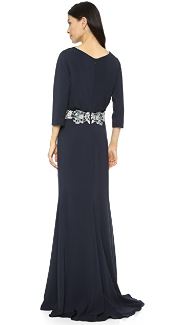 Badgley Mischka Collection Gown with Beading