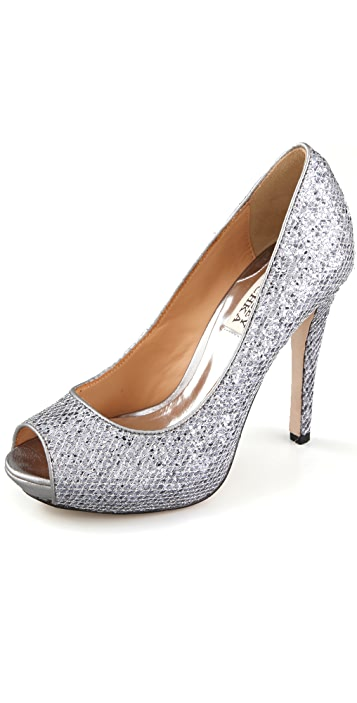 Badgley Mischka Humbie Glitter Pumps
