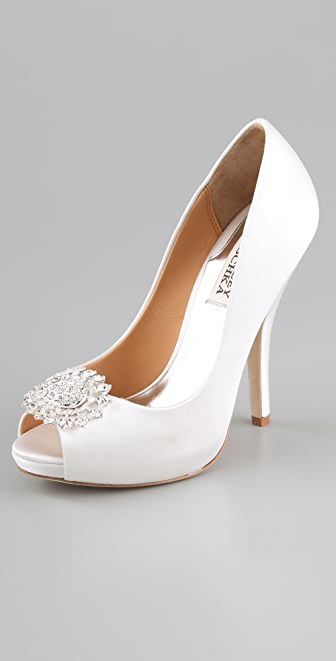 Badgley Mischka Lissa Satin Pumps
