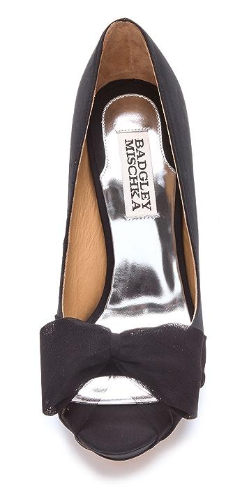 Badgley Mischka Zali Sandals with Chiffon Bow