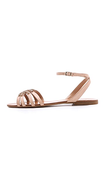 Badgley Mischka Courtney Jeweled Sandals