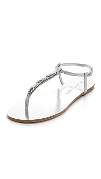 Badgley Mischka Abbie Embellished Flat Sandals