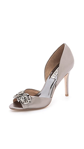 Badgley Mischka Nikki Metallic Pumps