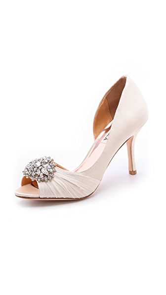 Badgley Mischka Pearson Open Toe Pumps