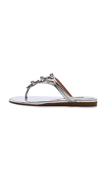 Badgley Mischka Kittie Jeweled Flat Sandals