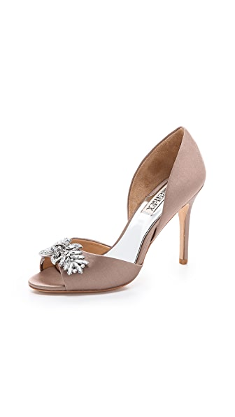 Badgley Mischka Nikki Satin Pumps