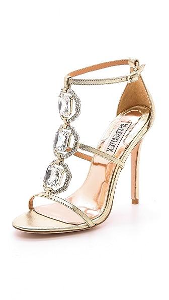 Badgley Mischka Harvey II Jeweled T Strap Sandal
