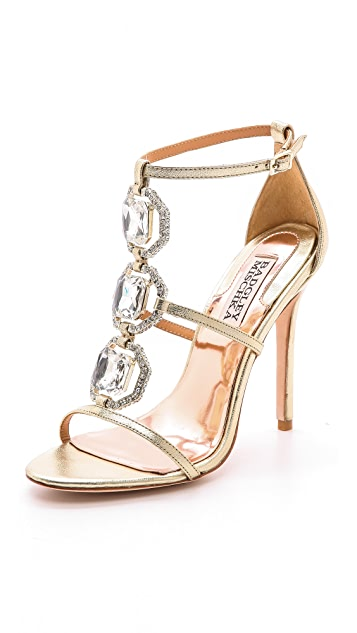 Badgley Mischka Harvey II Jeweled T Strap Sandal