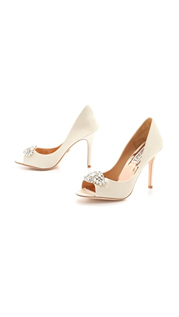 Badgley Mischka Lavender II Satin Pumps
