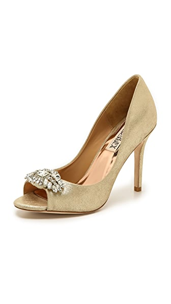 Badgley Mischka Lavender Peep Toe Pumps